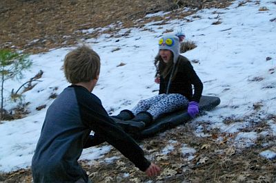 Running out of snow won't dampen their fun!