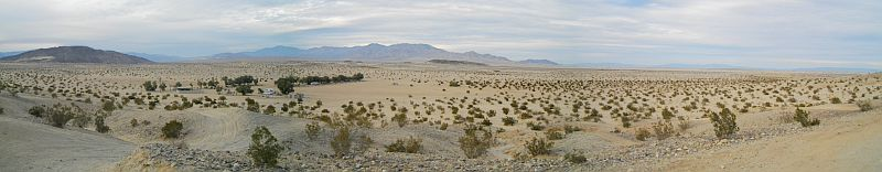 We warmed up in the sandy desert of the Ocotillo Wells State Vehicular Recreation Area.
