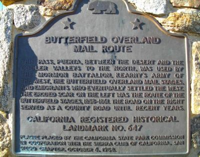 A map of the California portion of the Butterfield trail can be seen here via Google maps.