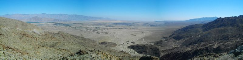 A fabulous view overlooking Borrego Valley.