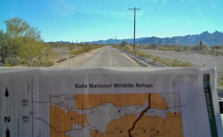 We found our old spot on BLM land adjoining KOFA National Wildlife Refuge.