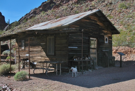 The cabin has been restored somewhat and is available to stay in if you would like.