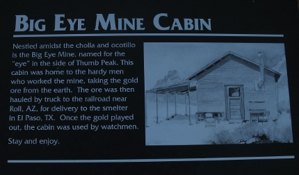 It's the Big Eye Mine Cabin.