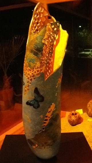 Another gourd art piece without flash.