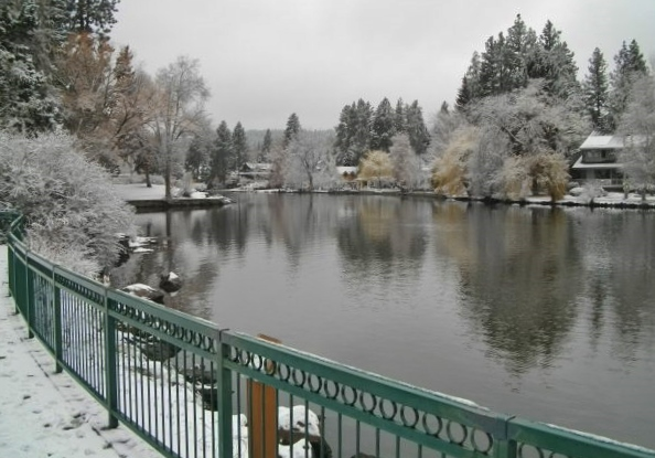 Mirror Pond in downtown Bend was very picturesque.